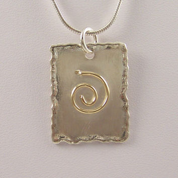 14k Gold and Sterling Silver Serenity Necklace