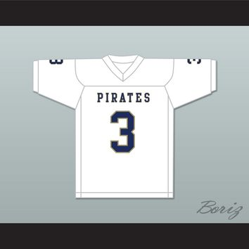 Malik Henry 3 Independence Community College Pirates White Football Jersey