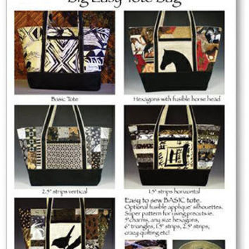 Pattern Big Easy Tote Bag by GabbysQuiltSupplies on Etsy