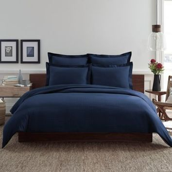 Real Simple® Clip N Zip Reversible Duvet Cover in Navy