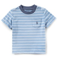 Ralph Lauren Childrenswear Baby Boys 3-24 Months Short-Sleeve Striped Ringer T-Shirt | Dillards