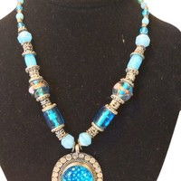 Jewelry for Womens Antique Turquoise Stone Beaded Necklace