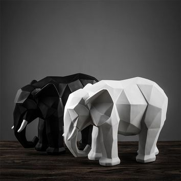 Nordic creative elephant ornaments modern minimalist home animal sculpture crafts decorative entrance Feng Shui Feng Shui
