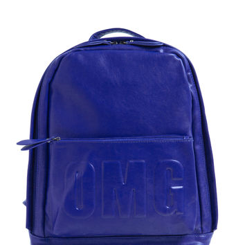 OMG Faux Leather Backpack