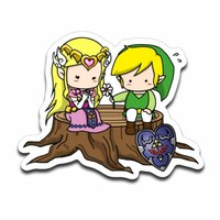 Hyrule Love Legend Of Zelda and Link Sticker Decal