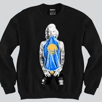 Marilyn Monroe Golden State Warriors Crewneck Sports Clothing