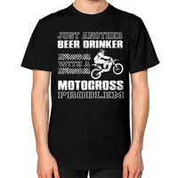 Motocross problem Unisex T-Shirt (on man)