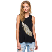 2017 New Fashion Feather Print Summer T Shirts Women O-Neck Sleeveless Irregular Loose T-shirt Top  Women's T-shirts Plus Size