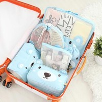 Bear Pattern Travel Organizer