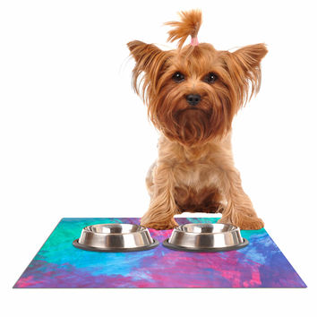 """NL Designs """"Bold Choice"""" Teal Painting Dog Place Mat"""