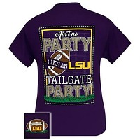 Louisiana State LSU Tigers Baton Rouge Tailgate Party T-Shirt