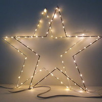 Fairy Light Star Decoration In Black Or White