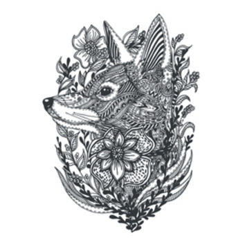 Create My Tattoo | Fox In Flowers Mandala Doodle Tattoo | Tattapic
