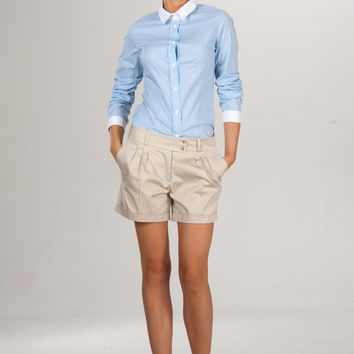 Classic Beige Shorts,elegant Style Shorts pants Daily,Summer and Autumn,Office Style,South beach shorts.