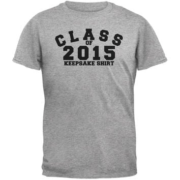 Graduation - Class Keepsake 2015 Heather Grey Adult T-Shirt