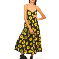 Motel Rocks Ariane Sunflower Maxi Dress