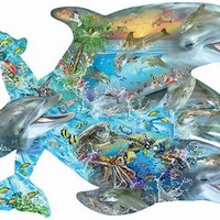 Song of the Dolphins 1000pc Shaped Jigsaw Puzzle