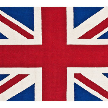 Union Jack Rug, Red, Area Rugs