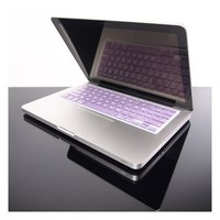 """TopCase® METALLIC PURPLE Keyboard Silicone Cover Skin for Macbook Pro 13"""" 15"""" 17"""" with or without Retina Display + TOPCASE® Logo Mouse Pad"""
