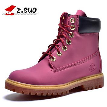 Women Winter Boots, Women Boots New Fashion Retro, Cool Autumn And Winter Keep Warming Boots Martin Pink