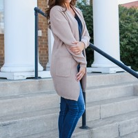 Crisp Air Cardigan - Taupe