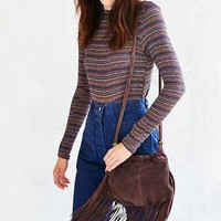 Ecote Pleated Fringe Crossbody Bag
