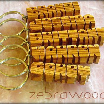 Wood Name Keychains - SPECIAL for 5 Exotic Woods