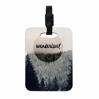 "Robin Dickinson ""Wanderlust"" Gray Black Decorative Luggage Tag"