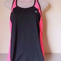 Victoria's Secret VSX Sport Racerback Tank Top Pink Black Small NWT