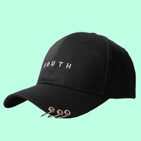 """YOUTH"" PIERCED CAPS"