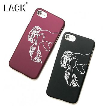 LACK Art Case For iphone 6 Case Funny Abstract Line Cartoon Cover Fashion Couples Hard Phone Cases For iphone 6S 7 7 Plus 5 5S