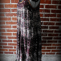 Vintage 1970's India Cotton Gauze Boho Hippie Festival Tank Dress