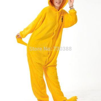Halloween Anime Adventure Time Jack Dog Cosplay Cos Pajamas Yellow Flannel Adult Unisex Onesuit Warm Costume Jumpsuit S M L XL