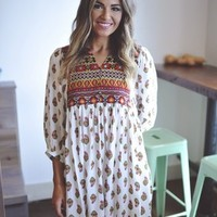 Boho Tunic Dress- White