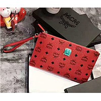 MCM Easy to Carry Wrist Bag B-A-GHSY-1 Red