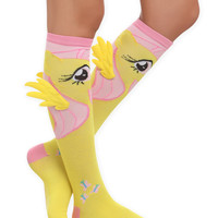 My Little Pony Fluttershy Winged Knee-High Socks | Hot Topic