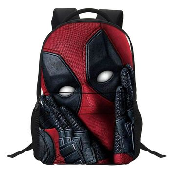 Deadpool Dead pool Taco VEEVANV New Fashion Marvel 3D Printed  2 Backpack Teenager Manga Style Student Bag A Wonderful Gift From The Movie Fans AT_70_6