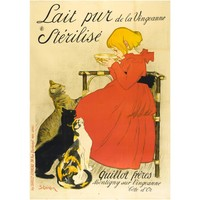 Lait Pur Sterilise, 1894 by T.A. Steinlen, Original French Poster Large Format