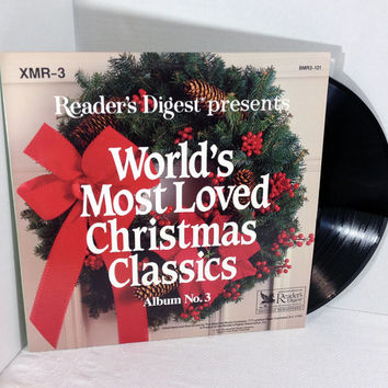 Reader's Digest presents World's Most Loved Christmas Classics Album No. 3 1991 Vinyl Record vintage LP 90's Bing Crosby Elvis Burl Ives