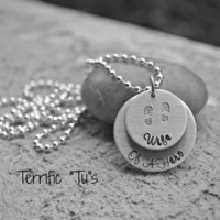 My Hero- Hand Stamped Personalized.. Wife.. Girlfriend.. Mother.. Grandma.. Etc, of a HERO Necklace