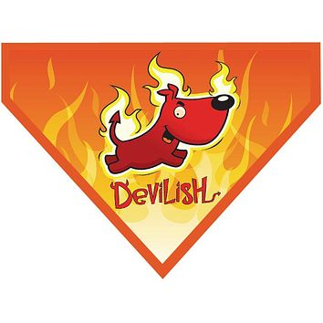 Halloween Over the Collar Dog Bandana - Devil Dog