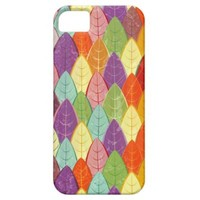 Seamless pattern autumn leaves colored