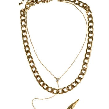 Aminah Thorn Chain Necklace- Gold