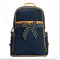 Blue And Yellow Bowknot Backpack bag