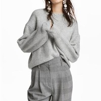 Rib-knit Sweater - Gray - Ladies | H&M CA