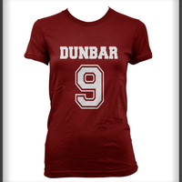Dunbar 9 Liam Dunbar Teen Wolf Beacon Hills Lacrosse on front White ink Women Tee Tshirt