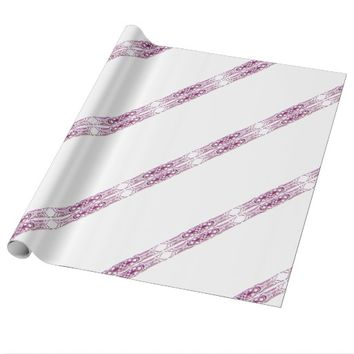 Border 1 purple wrapping paper
