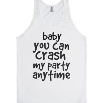 crash my party-Unisex White Tank