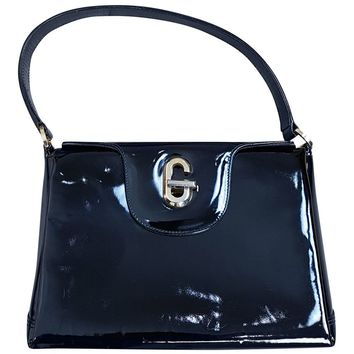 *GUCCI* VINTAGE PATENT LEATHER KELLY BAG