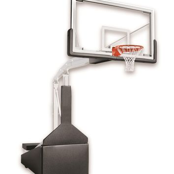 First Team Hurricane Triumph FL Indoor Portable Basketball Hoop 72 inch Unbreakable Competition Glass